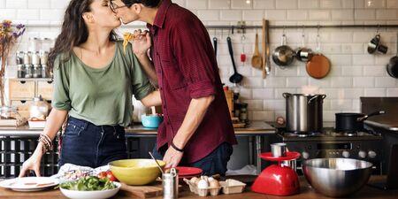 prewedding: Couple Cooking Hobby Lifestyle Concept