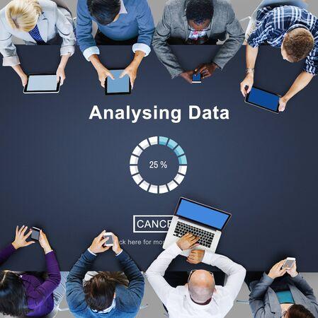 analysing: Analysing Data Loading Progress Bar Concept