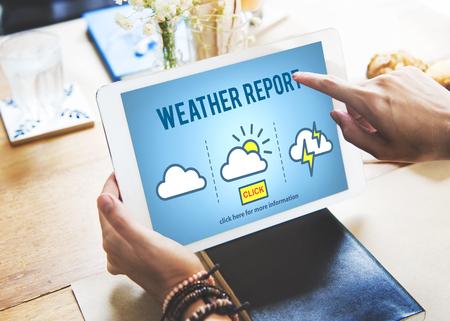estado del tiempo: El tiempo Pronóstico informe de predicción de Noticias Información Concept