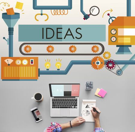 office automation: Innovation Ideas Imagine Processing System Concept