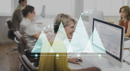 information analysis: Statistics Analysis Diagram Data Strategy Growth Concept Stock Photo