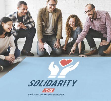 Solidarité Esprit d'équipe Unité Icône Concept Banque d'images