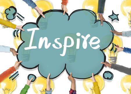 aspirations: Inspire Aspirations Goal Imagination Innovation Concept Stock Photo