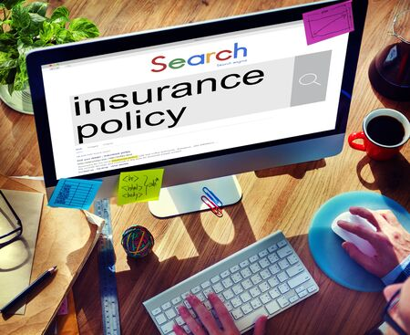 insurance policy: Insurance Policy Claim Protection Security Concept