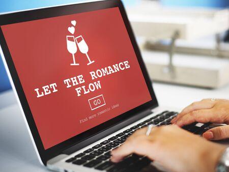 adoration: Let The Romance Flow Love Passion Valentines Concept