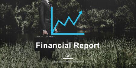 Concept Rapport financier Finance Enregistrement en ligne