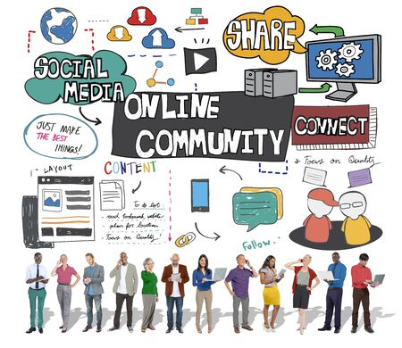 togetherness: Online Community Social Networking Society Togetherness Concept