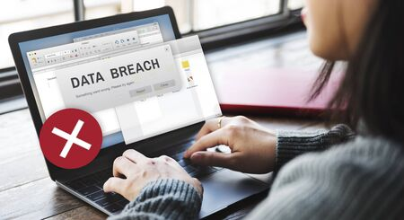 breach: Data Breach Security Confidential Cybercrime Concept