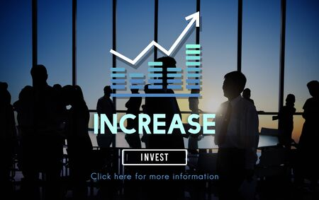 escalate: Increase Enlarge Expand Extend Growth Rise Concept Stock Photo