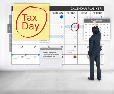 exemption: Tax Day Financial Economy Money Concept