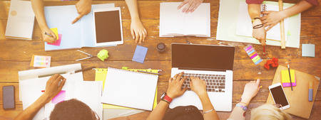 Diverses personnes Groupe de travail Ensemble Concept Banque d'images - 56316967