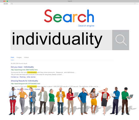 individuality: Individuality Independence Freedom Character Concept
