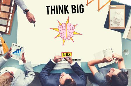 positive thinking: Think Big Positive Thinking Inspiration Attitude Concept Stock Photo