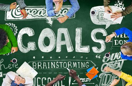 man business oriented: Goals Data Mission Target Aspiration Concept