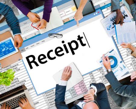 receipt: Receipt Receipts Cost Expenses Financial Spend Concept