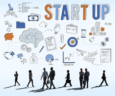 stock market launch: Startup New Business Launch Development Concept