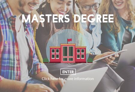 master degree: Academic Education Master Degree Study Concept