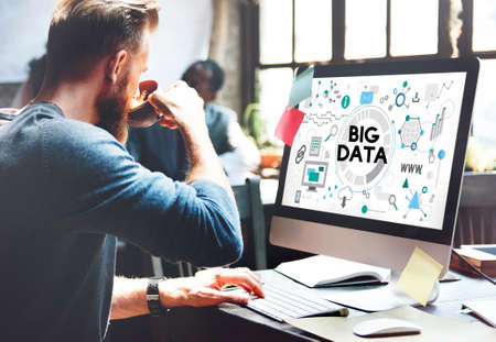 server technology: Big Data Technology Server Storage System Concept Stock Photo