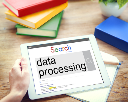 data processing: Data Processing Classify Protecting Information Concept