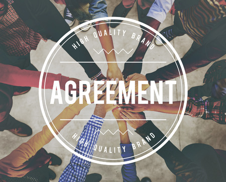 Agreement with teamwork concept