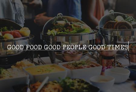 Good Food Menschen Zeiten Essen Ernährung Bio-Konzept