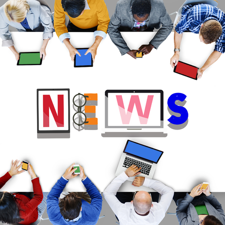 news update: News Update Information Global Communication Concept