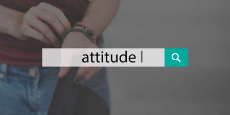 mindset: Attitude Person Text Optimistic Mindset Concept