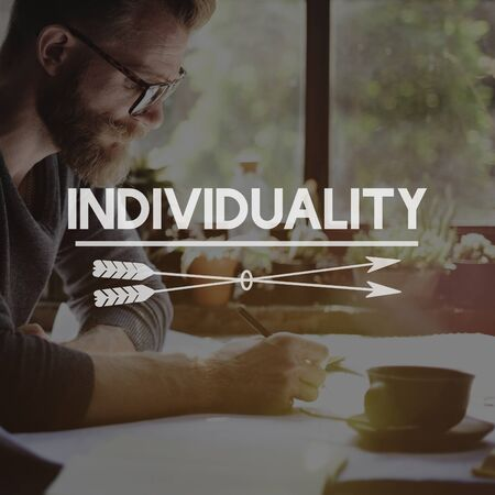 personalidad: Individuality Character Personality Identity Concept