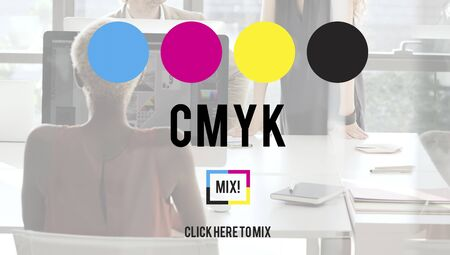 computer keys: CMYK Cyan Magenta Yellow Key Color Printing Process Concept