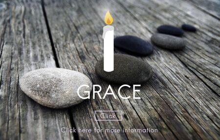 グレース エレガンス信仰洗練された宗教の精神概念 写真素材