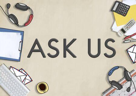 enquire: Ask Us Enquire Question Information Contact Concept Stock Photo