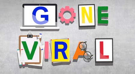 famous: Gone Viral Famous Popular Media Concept