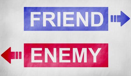 misunderstanding: Friends Enemy Oppositve Dilemma Misunderstanding Choose Concept
