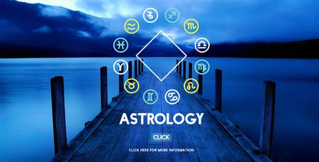 Astrología Astronomía del horóscopo del zodiaco Concepto Adivinación