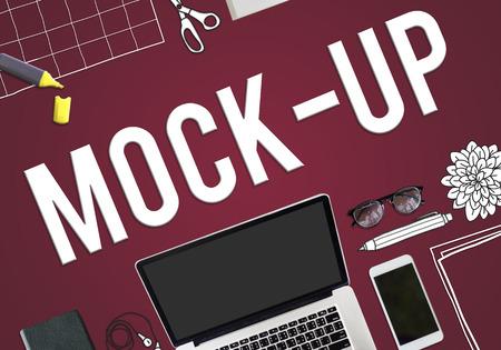 mock up: Mock Up Model Typography Object Sample Concept