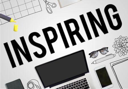 inspiring: Inspiring Inspire Inspiration Motivate Creativity Concept Stock Photo