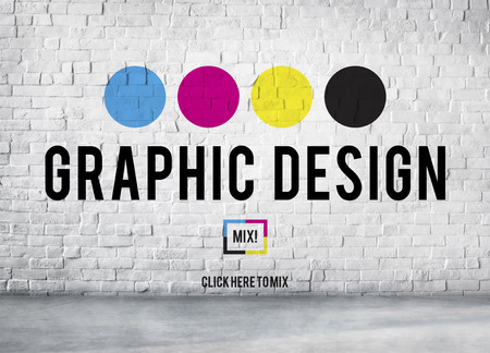Design Graphic Creative Planning Purpose Draft Concept Foto de archivo
