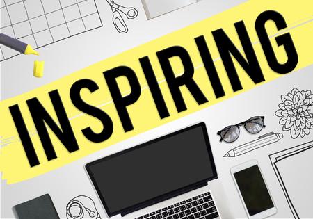 Inspiring Inspire Inspiration Motivate Creativity Concept Stock Photo