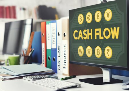 earnings: Cash Flow Money Value Earnings Concept Stock Photo