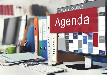 adjournment: Agenda Apppointment Goals Information List Plan Concept