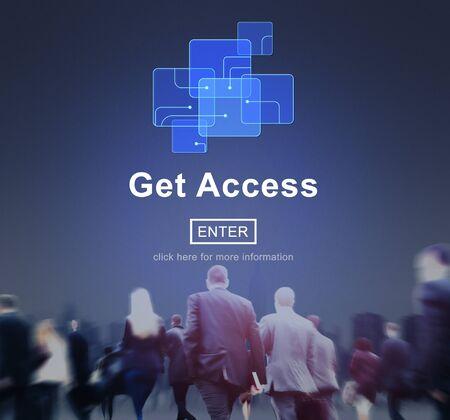 availability: Get Access Availability Obtainable Online Internet Technology Concept