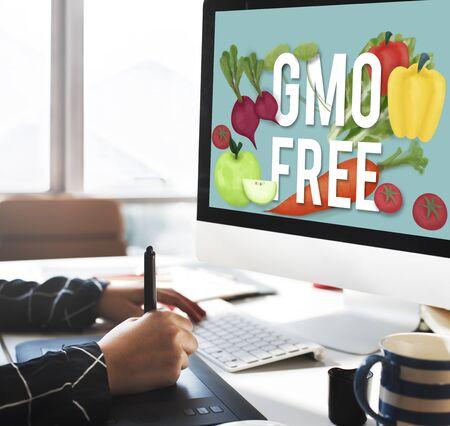 genetically modified organism: GMO Free Genetically Modified Organism Healthy Concept Stock Photo