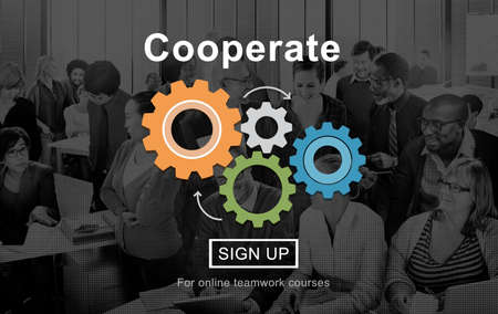 cooperate: Cooperate Support Collaboration Partnership Concept