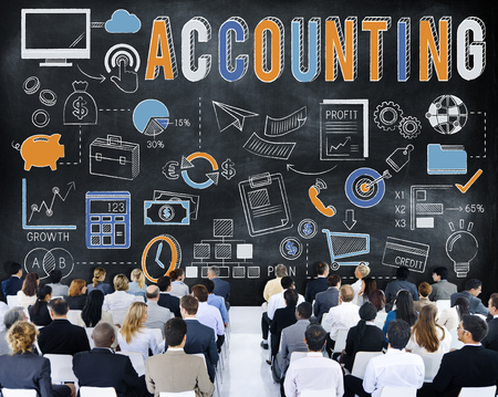 Accounting concept with audience