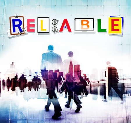 trustworthy: Reliable Trustworthy Dependable Responsible Respectable Concept