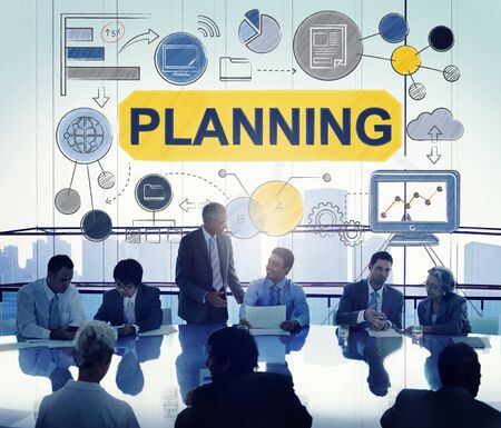 planning strategy: Planning Strategy Global Business Data Concept Stock Photo