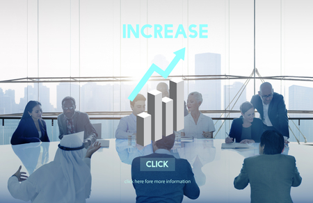 middle eastern ethnicity: Increase Growth Rise Elevation Enlarge Expansion Concept Stock Photo