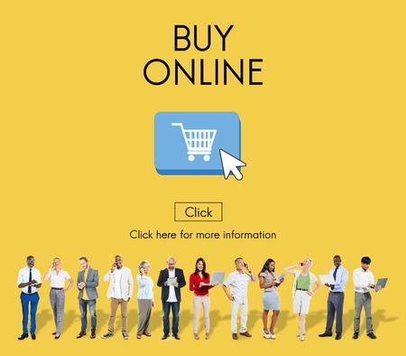 Acquista Online Business Digital Technology Internet Concept Archivio Fotografico