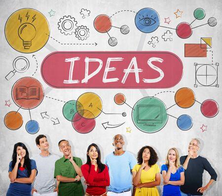 proposition: Ideas Mission Imagination Icons Vision Concept