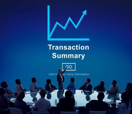 account executive: Transaction Summary Budget Balance Account Concept Stock Photo